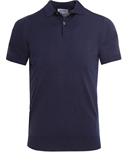 John Smedley Men's Merino Wool Payton Polo Shirt Navy M
