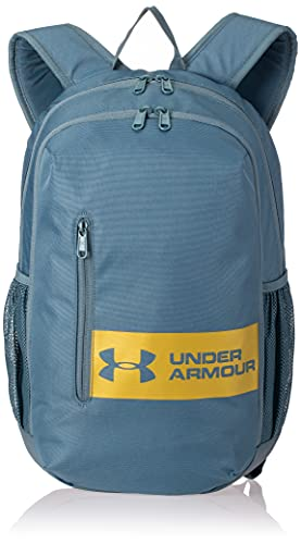 Under Armour Adult Roland Backpack , Lichen Blue (424)/Metallic Gold Luster , One Size Fits All