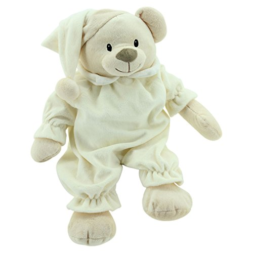 Sweety Toys 90242 sommeil Ours Sleepy Coussin ours teddy env. 50 cm, beige ultra doux