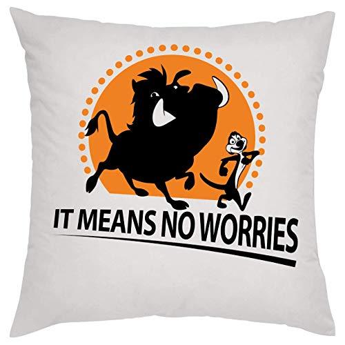 It Means No Worries Pumba Hakuna Matata Kissen Pillow