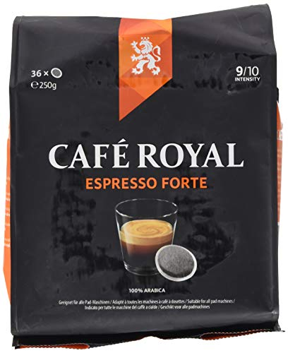 Café Royal Dosettes de café Espresso Forte, compatibles Senseo (R), 36 Dosettes Souples