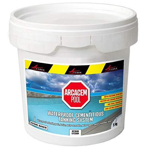Enduit piscine d'étanchéité hydrofuge bassin béton cuvelage mortier imperméable ARCACIM PISCINE