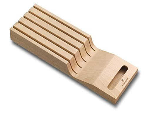 Victorinox Schubladeneinsatz aus Holz für Messer 5 Messerhalter Ordnungssystem 43 x 145 x 62 cm Swiss Classic-Soporte…
