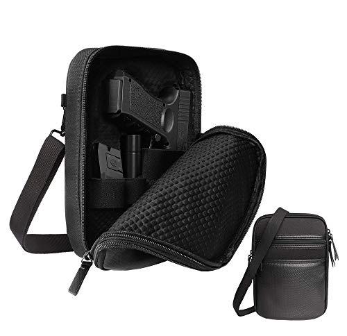 Lilcreek Gun Cases for Pistols, Concealed Carry Gun Pouch Handgun Shoulder Bag, Fanny Pack Waist Pocket for Handgun with Belt Loops
