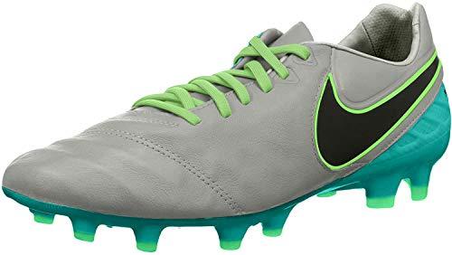 Nike Tiempo Legacy II Fg, Botas de Fútbol Hombre, Gris (wolf grey/black-clear jade), 40.5