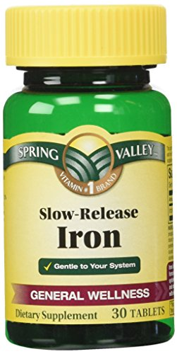 Spring Valley Slow Release Iron, 30 Tablets (1)