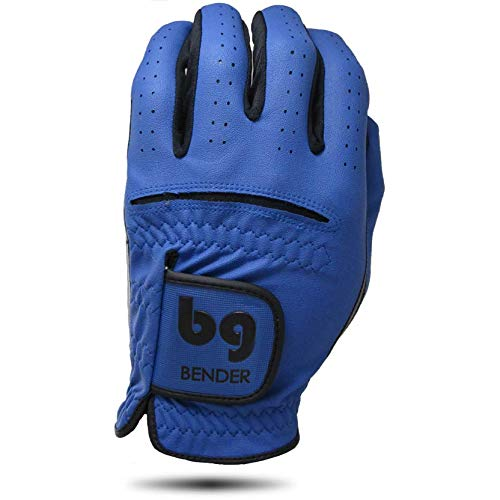 Bender Gloves Men's Synthetic Golf Glove (Worn on Left Hand) (Blue, Medium-Large)