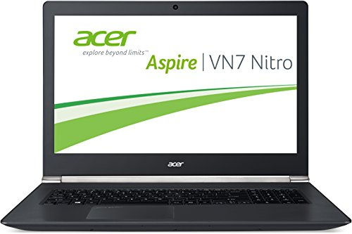 Acer Aspire Black Edition VN7-791G-779J 43,9 cm (17,3 Zoll Full HD) Laptop (Intel Core i7-4720HQ, 3,6GHz, 8GB RAM, 128GB SSD + 1000GB HDD, Nvidia GeForce GTX 960M, DVD, Win 8.1) schwarz