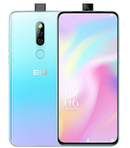 Elephone PX Smartphone ohne Vertrag, Pop-Up-Kamera-Design 16 MP + 16 MP, 6,53 Zoll FHD + Vollbild-Bildschirm, MT6763 Octa Core 4 GB + 64 GB, Global DUAL SIM 4G Handy Android 9.0 Pie, GPS - Blau