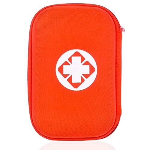 Botiquín de Primeros Auxilios Kit vacio - YUESEN Botiquín de Primeros Auxilios Premium de Mini Bolso de Emergencia Para el Hogar, Oficina, Coche, Caravana, Viajes y Deportes, Solo Bolsa Vacía, Rojo
