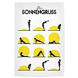 artboxONE Poster 30x20 cm Yoga Menschen Der Sonnengruss -