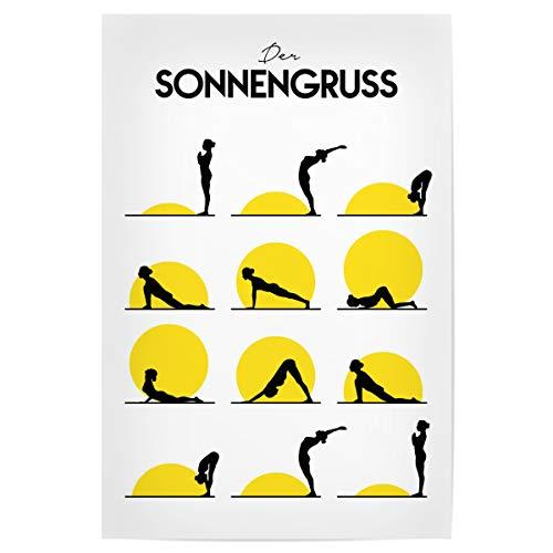 artboxONE Poster 30x20 cm Yoga Menschen Der Sonnengruss - Bild Yoga sonnengruss positionen