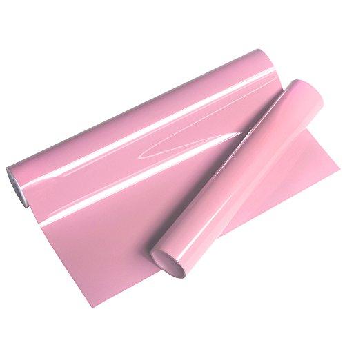 VINYL FROG Premium Pink Heat Transfer Vinyl Iron on Vinyl 10x5ft for T-Shirt and DIY Garment