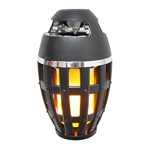Flame Lamp Speaker,Music Flame Atmosphere Table Lamp, Portable Bluetooth Stereo Bass Wireless Speaker, LED Flickers Warm Night Lights.