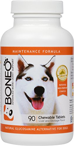 Boneo Canine Maintenance Formula- Patented Bone And Joint Supplement For Dogs- 90 Ct Chewable Tablets, Liver And Sausage Flavor