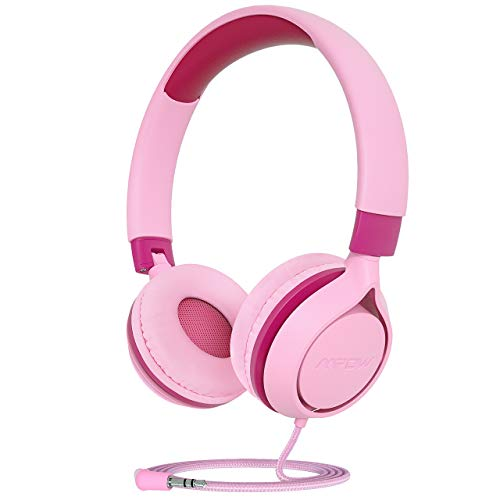 Mpow CHE1 Auriculares para Niños, Auriculares para Niños con Volumen Limitado, con Conector de Audio de 3,5 mm para Niñas y Niños, Auriculares con Cable Plegables y Ajustables