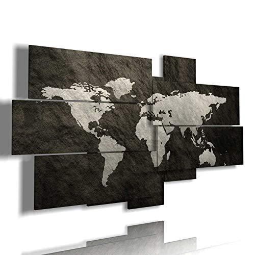 duudaart Quadro Cartina geografica Mondo Moderno 3D multilivello Quadri per Ufficio Etnici