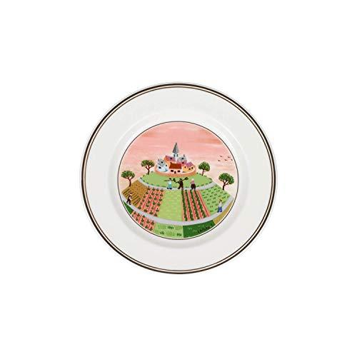 Villeroy & Boch 10-2337-2662 Assiette à Pain Porcelaine Rouge 18 x 18 x 9 cm 1 Assiette
