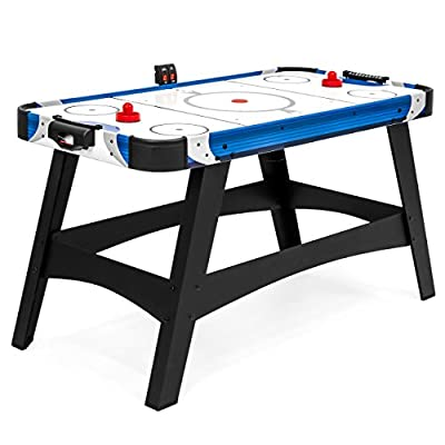 Best Choice Products 54in Large Air Hockey Table for Game Room, Office w/ 2 Pucks, 2 Pushers, LED Score Board from Best Choice Products