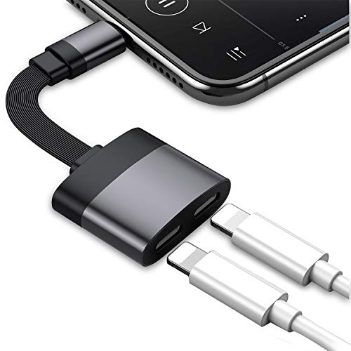 Adaptador de Conector de Auriculares para iPhone 7 Adaptadores de Doble convertidor, Cable de Audio AUX Splitter Conector de Cargador de Auriculares, para IPhoneX/XS / 8/8 Plus / 7/7 Plus / 6