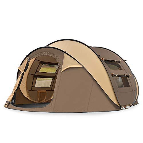 XFSD Automatisches Pop-up-Zelt für 3-4 Personen im Freien, zähes Glasfaserzelt, atmungsaktives Netzfenster gegen Mücken, Wind- und sturmsicheres Gewebe, tragbares Falten und schnelle Aufbewahrung
