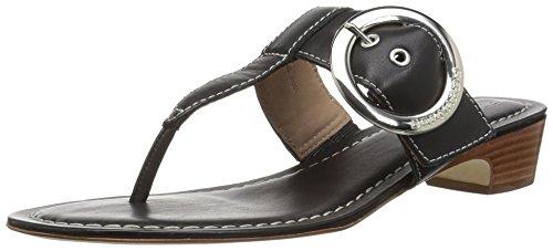 Bernardo Women's Grace Wedge Sandal, Black Antique Calf, 5M M US
