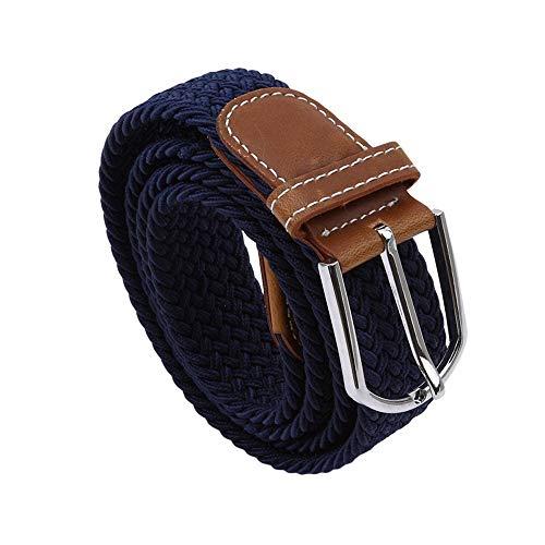 Hebilla elástica de la mujer de la cintura de la correa sólida de la lona que hace punto la cintura del cinturón durable