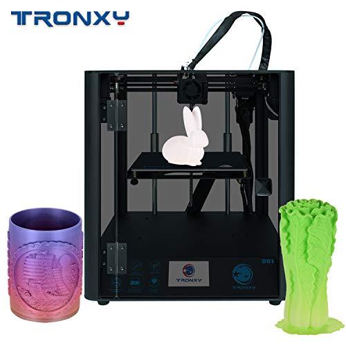 Benkeg Imprimante 3D,D01 Imprimante 3D Haute Précision Silencieux Carte Mère Guide de Base Linéaire Rail Core Structure 3,5 Pouces Couleur Écran Tactile