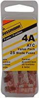 Bussmann (VP/ATC-4-RP) Pink 4 Amp 32V Fast Acting ATC Blade Fuse, (Pack of 25)