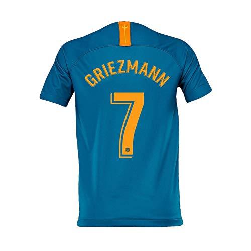 COOLBOY 2018-19 Atletico Madrid Home Herren Trikot, Fußball-T-Shirt, Griezmann 7,XL