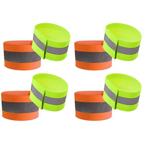 LIOOBO 8 stücke nachtlaufband reflektierende armbänder Outdoor Sports armbänder für Sicherheit gehen wandern joggen Laufen (Jede Farbe 4)