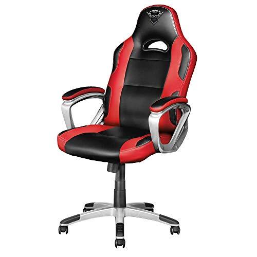 Trust GXT 705R Ryon Silla Gaming ergonomica, disenada para jugar comodamente durante horas, rojo