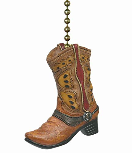 Country Cowboy Boot Ceiling Fan Pull or Light Pull