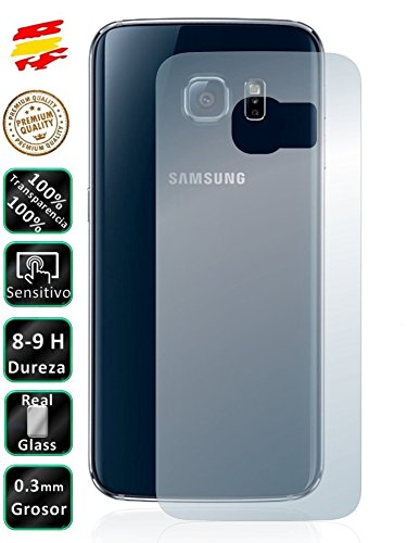 Movilrey Protector para Samsung Galaxy S6 Edge Plus Trasero Cristal Templado de...