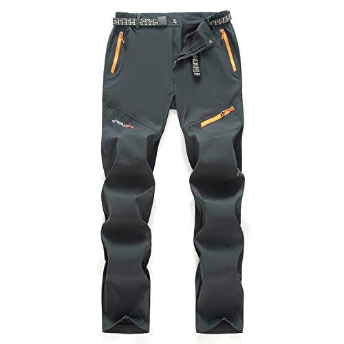 7VSTOHS Pantalones de Senderismo para Hombre al Aire Libre Primavera Verano Pantalones de Andar Ligeros y Transpirables Pantalones Casuales de Escalada Deportiva
