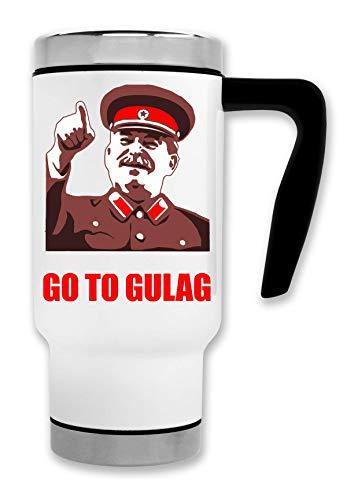 ShutUp Go to Gulag Meme Taza de té y café de Viaje Termal