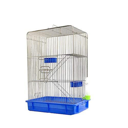 Aeon hum 鳥かご 鳥ケージ リスケージ バードゲージ 大型 豪華ケージ 銀色メッキ 大きい インコ オウムケージ オカメ セキセイ ボタン 附属品付き ブルー セット1