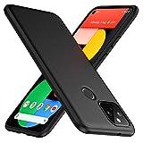 TesRank Google Pixel 5 Hülle, Matte Oberfläche Soft Hüllen [Ultra Dünn] [Kratzfest] TPU Schutzhülle Hülle Weiche Handyhülle für Google Pixel 5-Schwarz