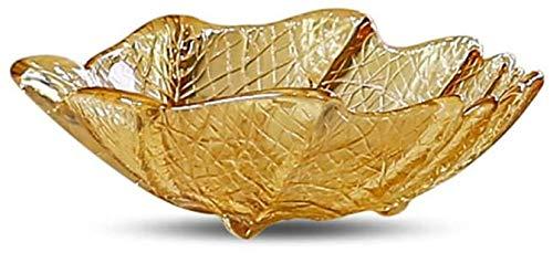 Accessoires voor thuis Glazen fruitschaal Leaf-type Snacks Salad Gedroogde Koude dranken Bowl, Cut Fruit Plate-Small