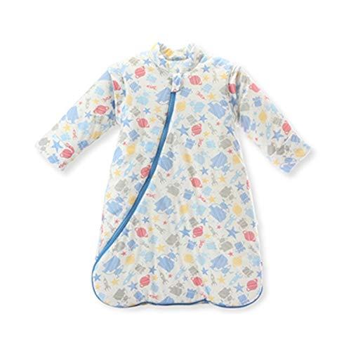 XIANGBEI Saco de dormir para cochecito de bebé, con mangas largas desmontables, para otoño e invierno, cálido, suave, para cochecito de bebé, resistente al viento, cálido, saco de dormir para bebé