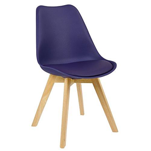 WOLTU BH29la-1 1 x Esszimmerstuhl 1 Stück Esszimmerstuhl Design Stuhl Küchenstuhl Holz Lila