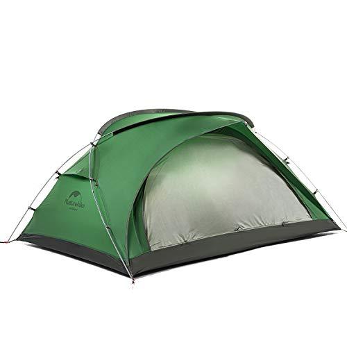 Naturehike 20D Silikon Zelt Bär-UL2 Großer Raum Doppel Campingzelt Ultraleicht Wasserabweisend Campingzelt 2 Personen NH20ZP108 Waldgrün