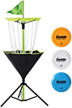 Franklin Sports Disc Golf Set – Disc Golf – Includes Disc Golf Basket, Three Golf Discs