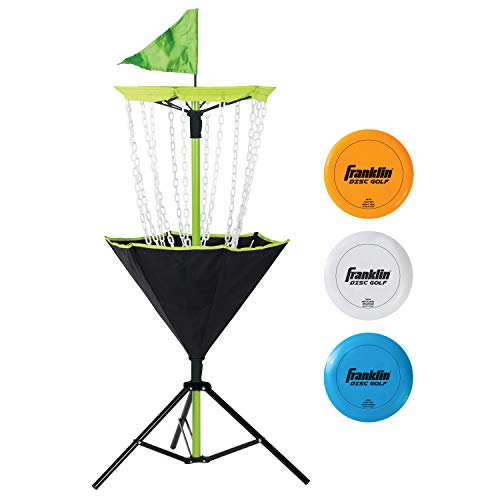 in budget affordable Franklin Sports Disc Golf Set-Disc Golf-Includes Disc Golf Cart and 3 Golf Discs