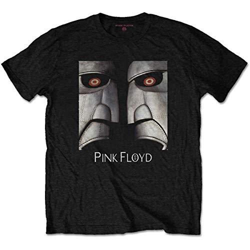 Pink Floyd Herren Metal Heads Close-up T-Shirt, Schwarz (Black Black), Medium