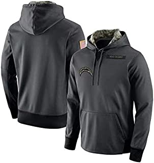 Los Angeles Chargers Salute to Service Anthracite Hoodie for Men Women