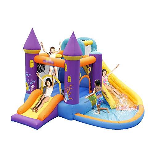 YM963 Saltar Rebote y Splash Casa Gorila Inflable del Castillo de Halloween Agua de la Piscina de Diapositivas y soplador for Kid (350 * 315 * 210 cm) Aire Libre y Deportes