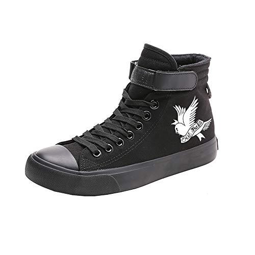 Lil Peep Fashion Impresión Zapatos de Lona Primavera Zapatos de Alta Ayuda...