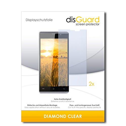 disGuard 2 x Bildschirmschutzfolie Cubot P11 Schutzfolie Folie DiamondClear unsichtbar