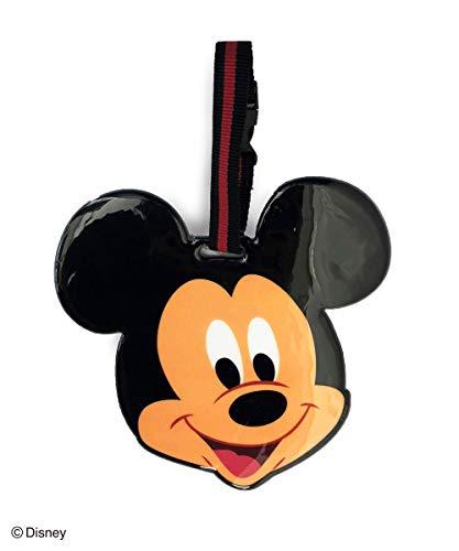 Disney(ディズニー) ラゲッジタグ ミッキーマウス スマイル W17×D0.5×H16cm パスケース カード入れ ICカード かわいい フリーパス 4992831950165